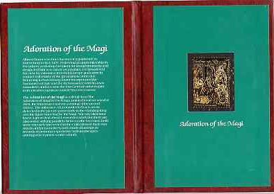 Staffa 1985 Christmas \A315 value (Adoration by Durer) in 22 carat gold foil in special presentation folder