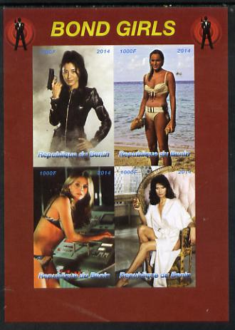 Benin 2014 Bond Girls imperf sheetlet containing 4 values unmounted mint. Note this item is privately produced and is offered purely on its thematic appeal