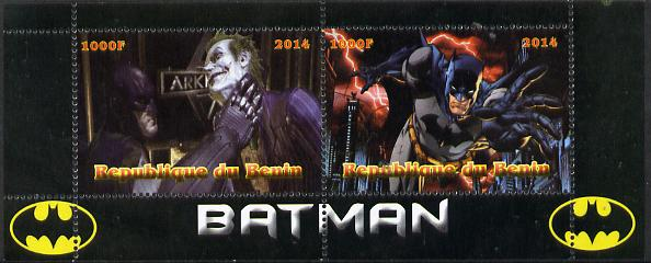 Benin 2014 Batman (Comic Strip) perf sheetlet containing 2 values unmounted mint. Note this item is privately produced and is offered purely on its thematic appeal