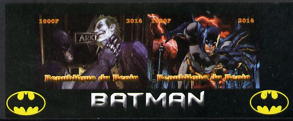 Benin 2014 Batman (Comic Strip) imperf sheetlet containing 2 values unmounted mint. Note this item is privately produced and is offered purely on its thematic appeal