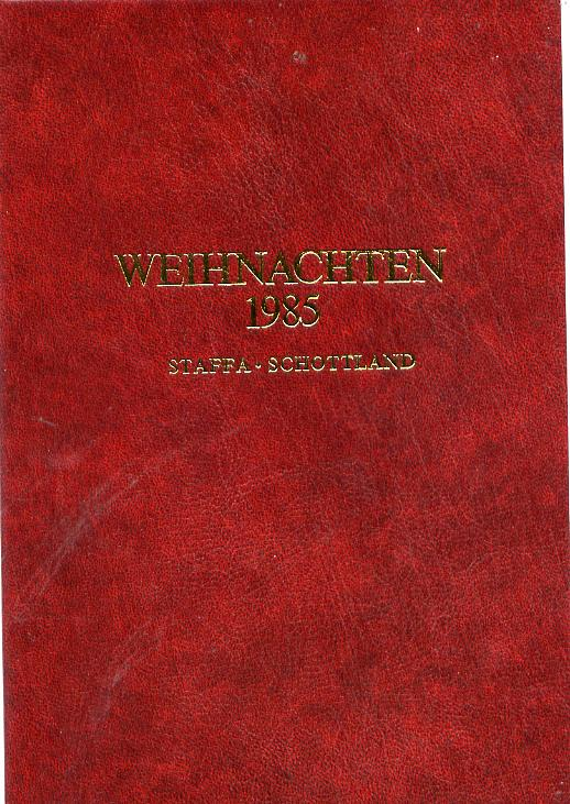 Staffa 1985 Christmas \A315 value (Adoration by Durer) in 22 carat gold foil in special presentation folder (German text)