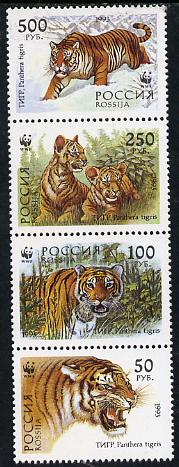 Russia 1994 WWF Tiger set of 4 unmounted mint, SG 6443-46*