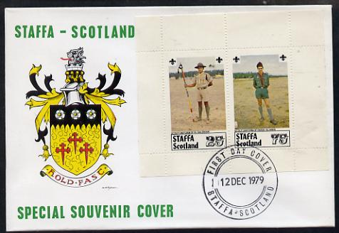 Staffa 1979 Scouts of the World perf set of 2 values (El Salvador & Faroe Is) on cover with first day cancel