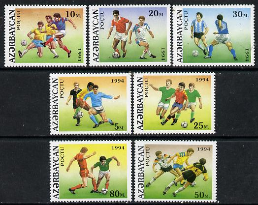 Azerbaijan 1994 Football World Cup set of 7 unmounted mint