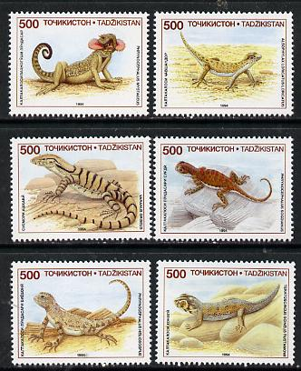 Tadjikistan 1994 Lizards set of 6, SG 62-67*
