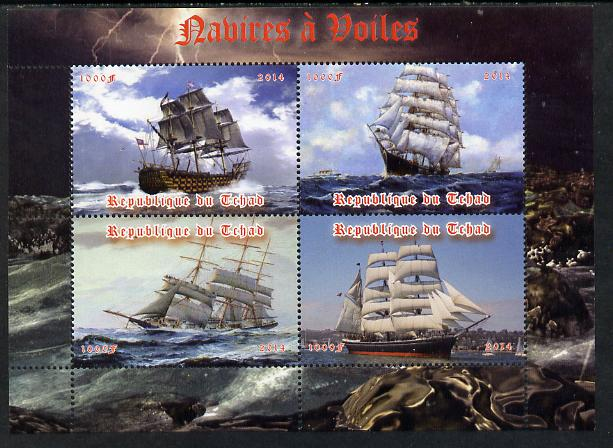 Chad 2014 Sailing Ships #2 perf sheetlet containing 4 values unmounted mint. Note this item is privately produced and is offered purely on its thematic appeal. .