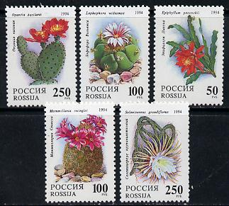 Russia 1994 Cacti set of 5 unmounted mint, SG 6461-65, Mi 363-67