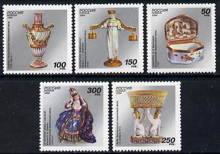 Russia 1994 Porcelain set of 5 unmounted mint, SG 6495-99, Mi 397-401