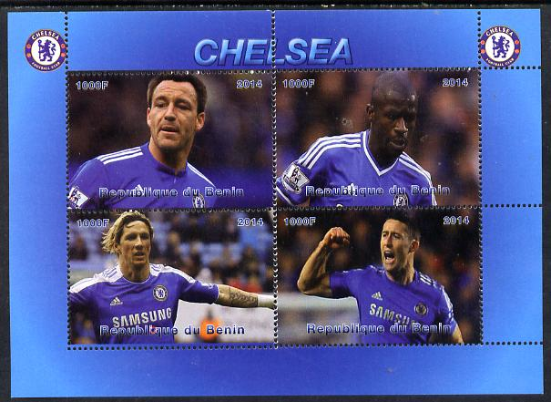 Benin 2014 Chelsea perf sheetlet containing 4 values unmounted mint. Note this item is privately produced and is offered purely on its thematic appeal