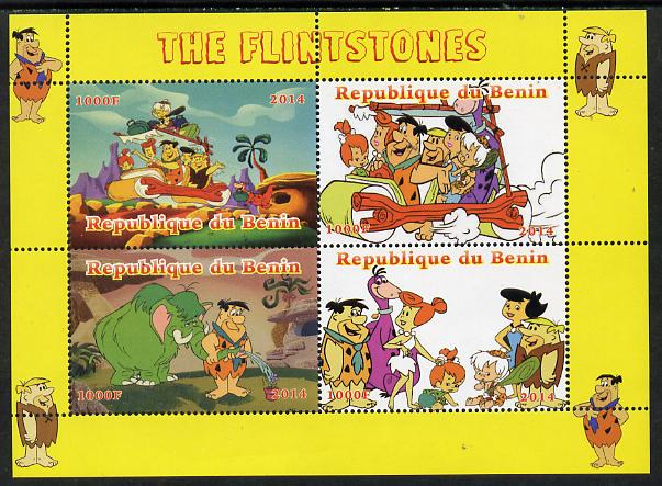Benin 2014 The Flintstones perf sheetlet containing 4 values unmounted mint. Note this item is privately produced and is offered purely on its thematic appeal