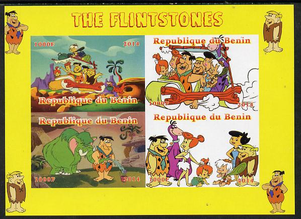 Benin 2014 The Flintstones imperf sheetlet containing 4 values unmounted mint. Note this item is privately produced and is offered purely on its thematic appeal