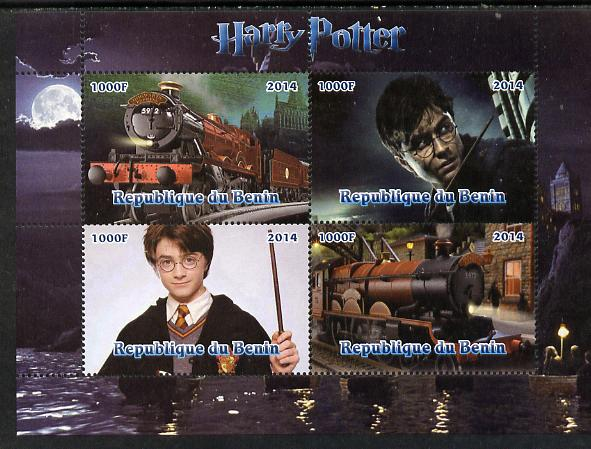 Benin 2014 Harry Potter #2 perf sheetlet containing 4 values unmounted mint. Note this item is privately produced and is offered purely on its thematic appeal