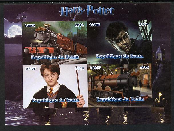 Benin 2014 Harry Potter #2 imperf sheetlet containing 4 values unmounted mint. Note this item is privately produced and is offered purely on its thematic appeal