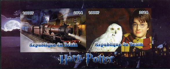 Benin 2014 Harry Potter #3 imperf sheetlet containing 2 values unmounted mint. Note this item is privately produced and is offered purely on its thematic appeal