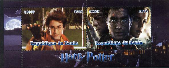 Benin 2014 Harry Potter #4 perf sheetlet containing 2 values unmounted mint. Note this item is privately produced and is offered purely on its thematic appeal
