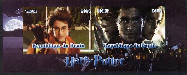 Benin 2014 Harry Potter #4 imperf sheetlet containing 2 values unmounted mint. Note this item is privately produced and is offered purely on its thematic appeal