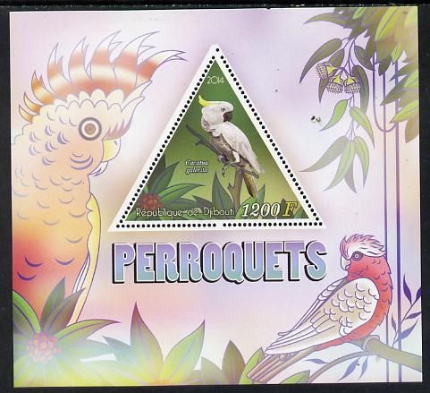 Djibouti 2014 Parrots perf s/sheet containing one triangular-shaped value unmounted mint