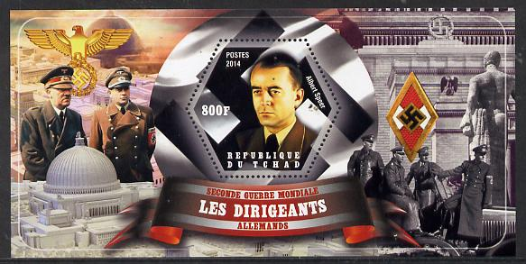 Chad 2014 Leaders in WW2 - Germany - Albert Speer perf s/sheet containing one hexagonal shaped value unmounted mint