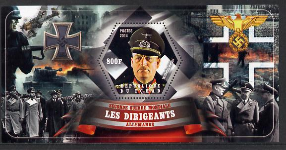 Chad 2014 Leaders in WW2 - Germany - Wilhelm Keitel perf s/sheet containing one hexagonal shaped value unmounted mint