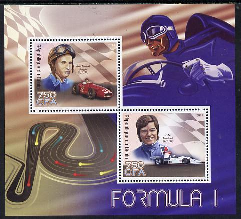 Benin 2014 Formula 1 perf sheetlet containing 2 values unmounted mint