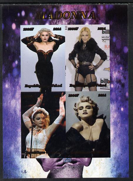 Chad 2014 Madonna (singer) imperf sheetlet containing 4 values unmounted mint. Note this item is privately produced and is offered purely on its thematic appeal. .