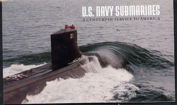 Booklet - United States 2000 Submarines $9.70 booklet complete and fine, unmounted mint SG SB 301