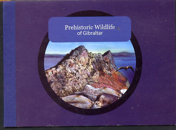 Booklet - Gibraltar 2007 Prehistoric Wildlife �8.46 booklet complete and fine SG SB15