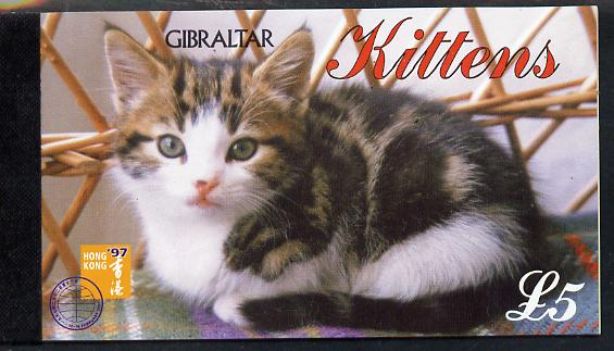 Booklet - Gibraltar 1997 Kittens �5 booklet complete and fine SG SB11