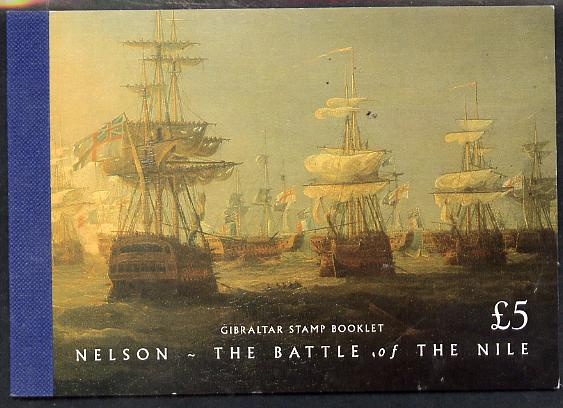 Booklet - Gibraltar 1998 Battle of the Nile \A35 booklet complete and fine SG SB12