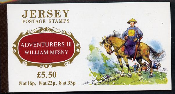 Booklet - Jersey 1992 Adventurers - William Mesny �5.50 prestige booklet complete, SG B44