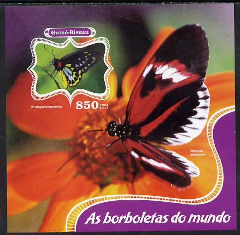 Guinea - Bissau 2014 Butterflies of the World #01 imperf s/sheet unmounted mint. Note this item is privately produced and is offered purely on its thematic appeal