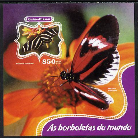 Guinea - Bissau 2014 Butterflies of the World #02 imperf s/sheet unmounted mint. Note this item is privately produced and is offered purely on its thematic appeal