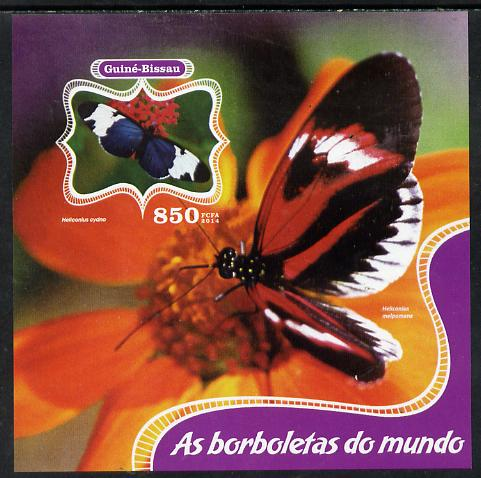 Guinea - Bissau 2014 Butterflies of the World #03 imperf s/sheet unmounted mint. Note this item is privately produced and is offered purely on its thematic appeal
