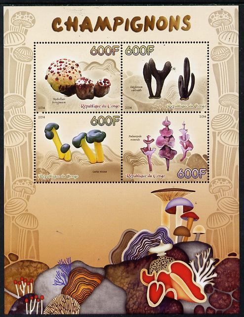 Congo 2014 Fungi perf sheetlet containing 4 values unmounted mint