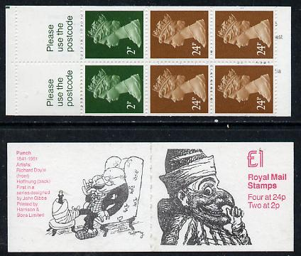 Booklet - Great Britain 1991 Punch (150th Anniversary of Magazine)  �1 booklet complete (SG FH23)