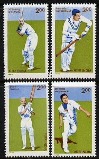 India 1995 Cricketers set of 4 unmounted mint, SG 1654-57
