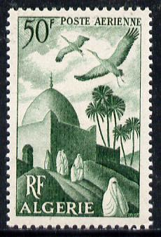 Algeria 1949 Air 50f (Storks over Minaret) unmounted mint SG 290*