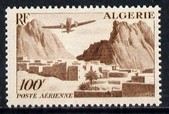 Algeria 1949 Air 100f (Plane over Valley) unmounted mint SG 291*