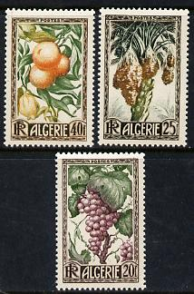 Algeria 1950 Fruits set of 3 unmounted mint SG 299-301*