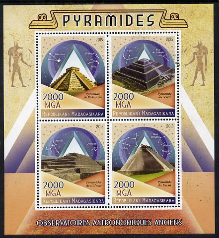 Madagascar 2015 The Pyramids perf sheetlet containing 4 values unmounted mint