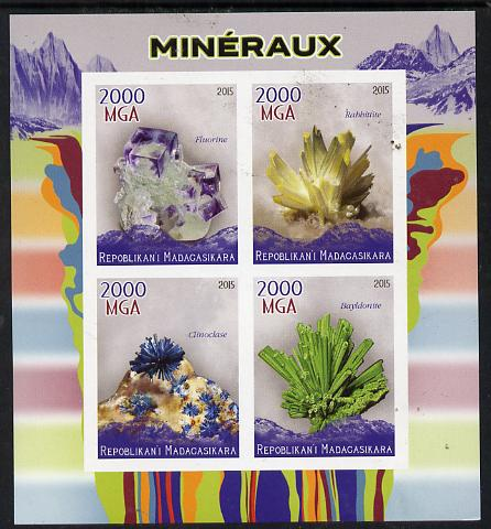Madagascar 2015 Minerals imperf sheetlet containing 4 values unmounted mint