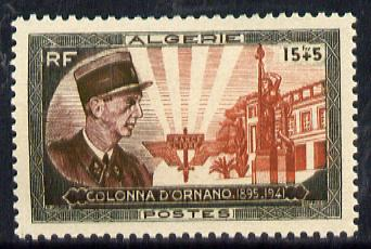 Algeria 1951 Col d'Ornano Monument Fund unmounted mint, SG 306