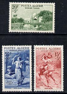 Algeria 1957 Army Welfare Fund set of 3 unmounted mint SG 377-79