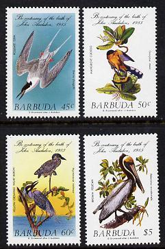 Barbuda 1985 John Audubon Birds set of 4 unmounted mint, SG 783-6