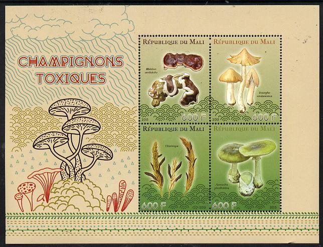 Mali 2015 Fungi perf sheetlet containing set of 4 unmounted mint