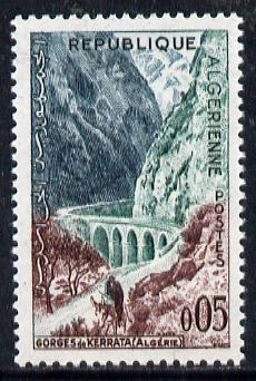 Algeria 1962 Kerrata Gorge 5c (from Tourism series) unmounted mint Yv 364*