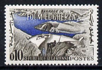 Algeria 1962 Foum El Gherza Dam 10c unmounted mint (from Tourism series) Yv 365*