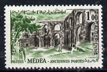 Algeria 1962 Ruins of M�d�a 1fr (from Tourism series) unmounted mint SG 400*