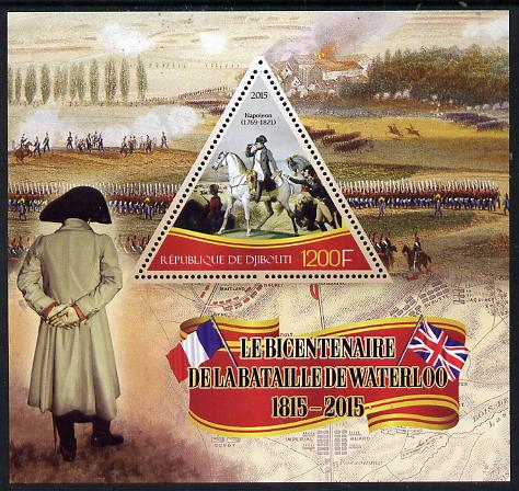 Djibouti 2015 Bicentenary of Battle of Waterloo perf s/sheet containing one triangular value unmounted mint