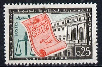 Algeria 1963 Promulgation of Constitution unmounted mint, Yv 381*